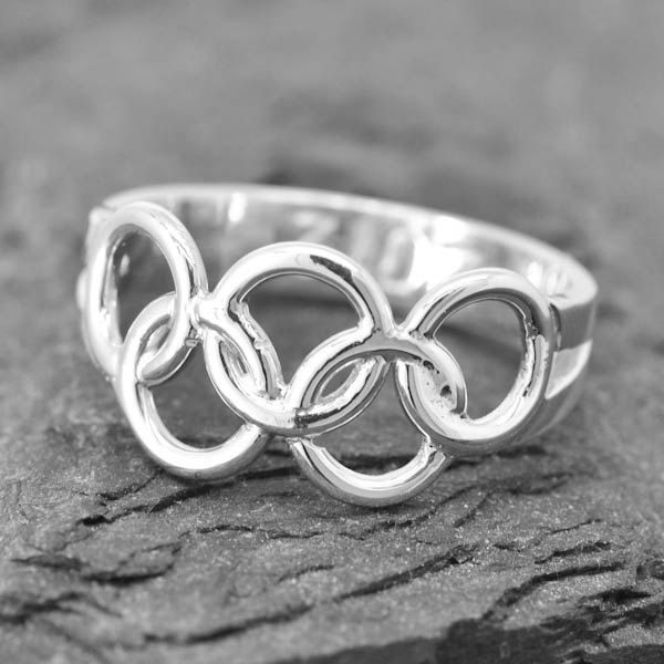 Olympic Ring, Olympic Jewelry, Sterling Silver Ring, Custom Made, 2016, Engraved Ring, JubileJewel, Handmade Jewelry by JubileJewel on Etsy