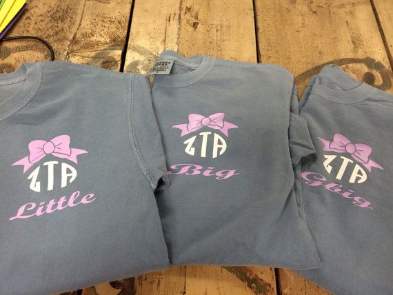 Custom ZTA Sorority Big and Little Comfort Colors by TheShirtPlace