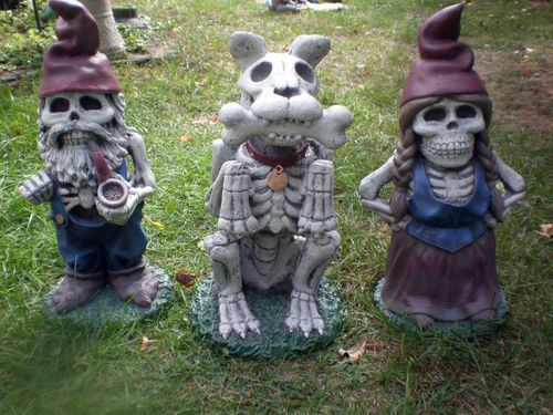 Zombie Gnome Garden Family i have the girl and a different guy and i want the dog