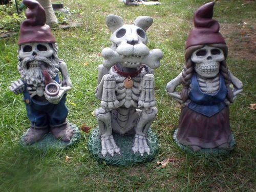 Zombie Gnome Garden Family