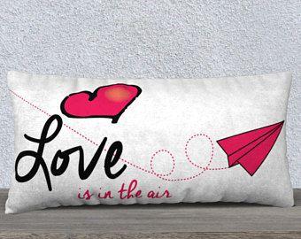 Housse de coussin, L'amour est dans l'air 24x12