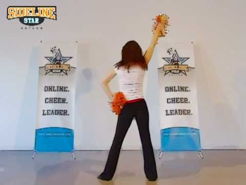 http://www.sidelinestar.com presents this Cheer, Dance and Pom Routine - works with a variety of music. Visit us to learn more Cheerleading routines and download Cheer mixes to dance to!    Enjoy!  *\O/*  The Sideline Star Team