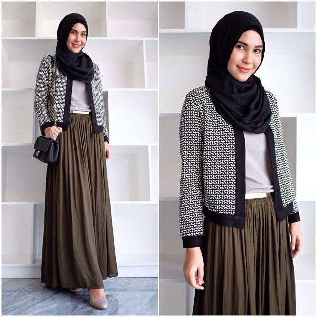 work-formal outfit for hijabi woman