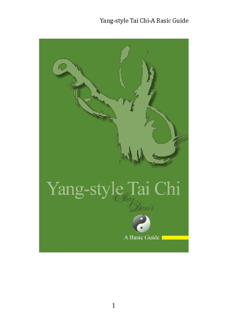 Yang-style Tai Chi: A Basic Guide by Shaz Davis - issuu