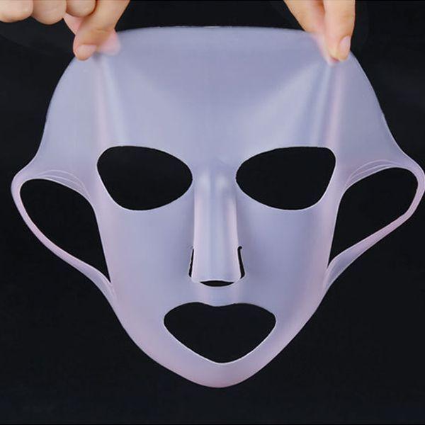 Reusable 3D Silicona Mascara Cubierta de cierre del agua Información nutricional Hidratante Evaporación Cuidado del rostro herramienta