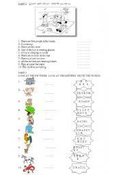 English worksheet: starters yle cambridge exams