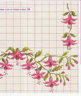 ENCANTOS EN CRUZ PUNTO: Flores