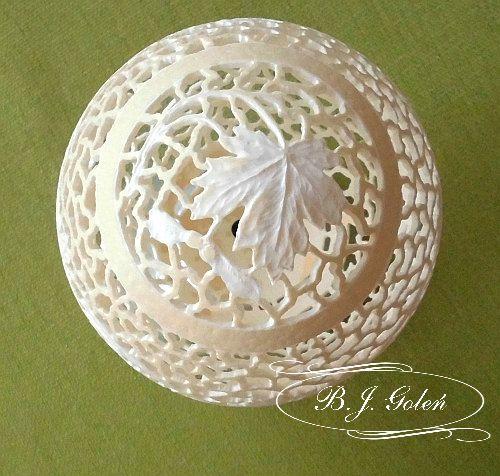 carved ostrich egg - ażurowe  jajo strusie