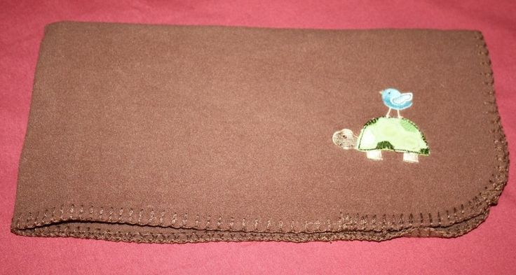 "Circo Brown Micro Fleece Green Turtle Blue Bird Baby Blanket Security Lovey 30"" #BabyGear"