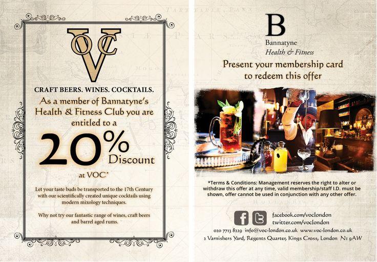 Flyer for VOC bar
