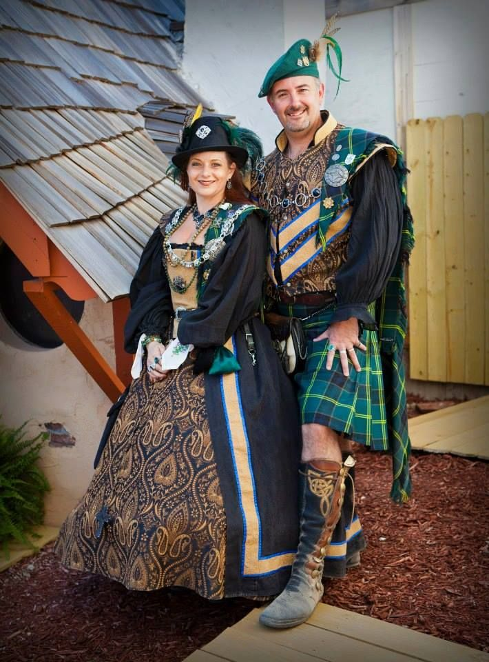Renaissance fair dress and doublet