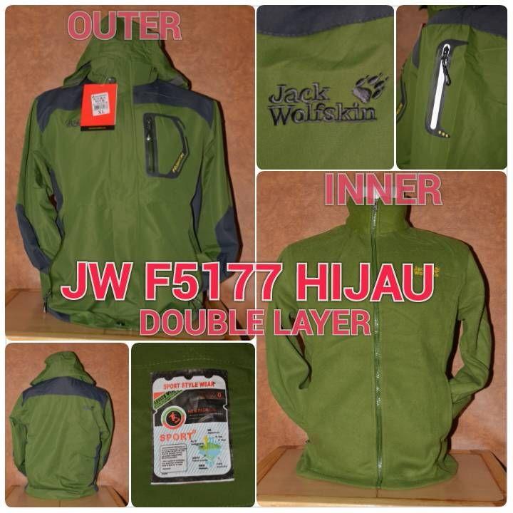 JW F5177 DOUBLE LAYER WATERPROOF HIJAU - OUTDOOR GEAR