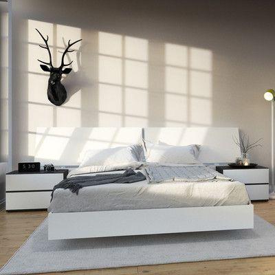 Nexera Acapella Platform Bed Size Queen Queen Bedroom