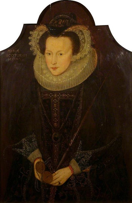 Mary Stuart, Queen of Scots, with an Open Watch in Her Hand by British School (1500s)
