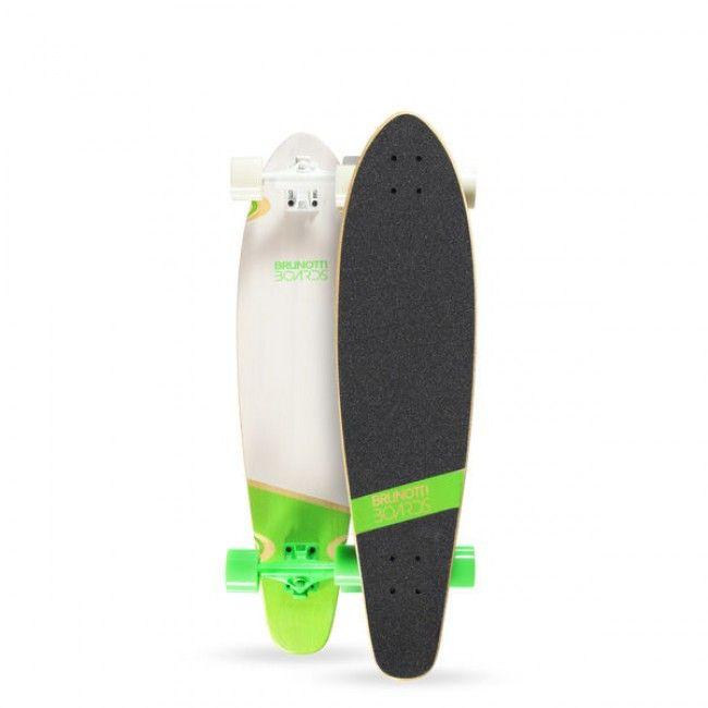 """2015 Brunotti Ben Longboard 36"""" Cruiser- Green Dit is Ben! Dit allround longboard is een speels en snel board. Het board is geschikt voor downhilling en old skool tricks. Zoek je een comfortable longboard waarme je nog steeds een kickflip kan maken is de Ben het board voor jou."""
