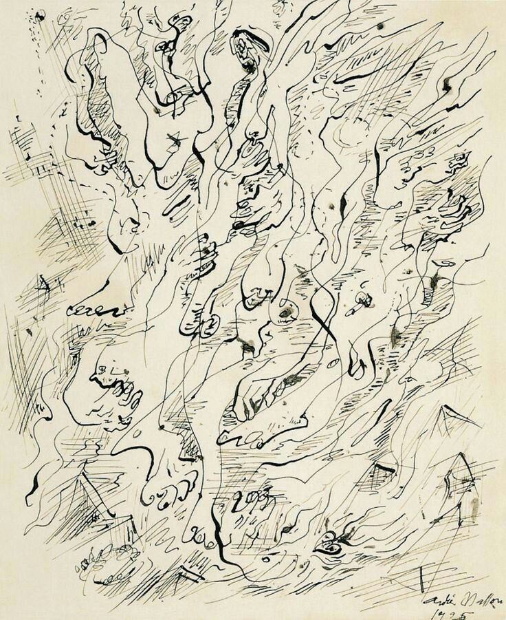 Andre Masson: automatic drawing. 1925