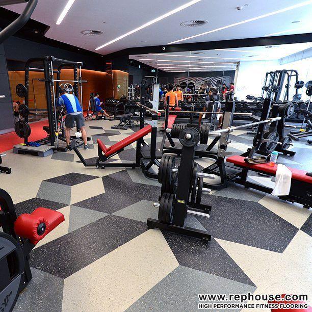 Neoflex Reptiles Modular Fitness Flooring Virgin Active Emquartier In Bangkok Thailand Gym Interior Gym Flooring Rubber Gym Design