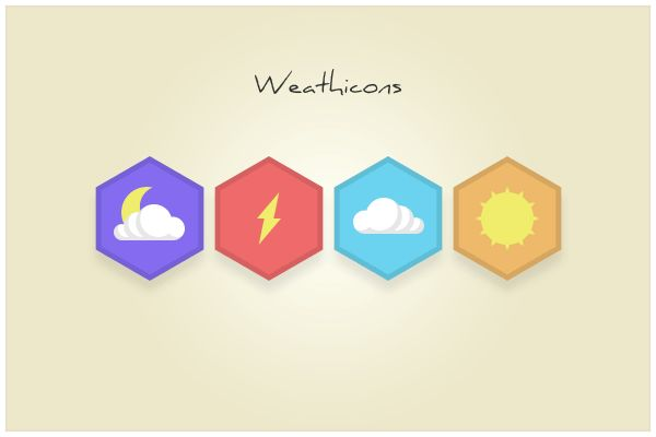136 Weathicons (freebie by pixelcave)
