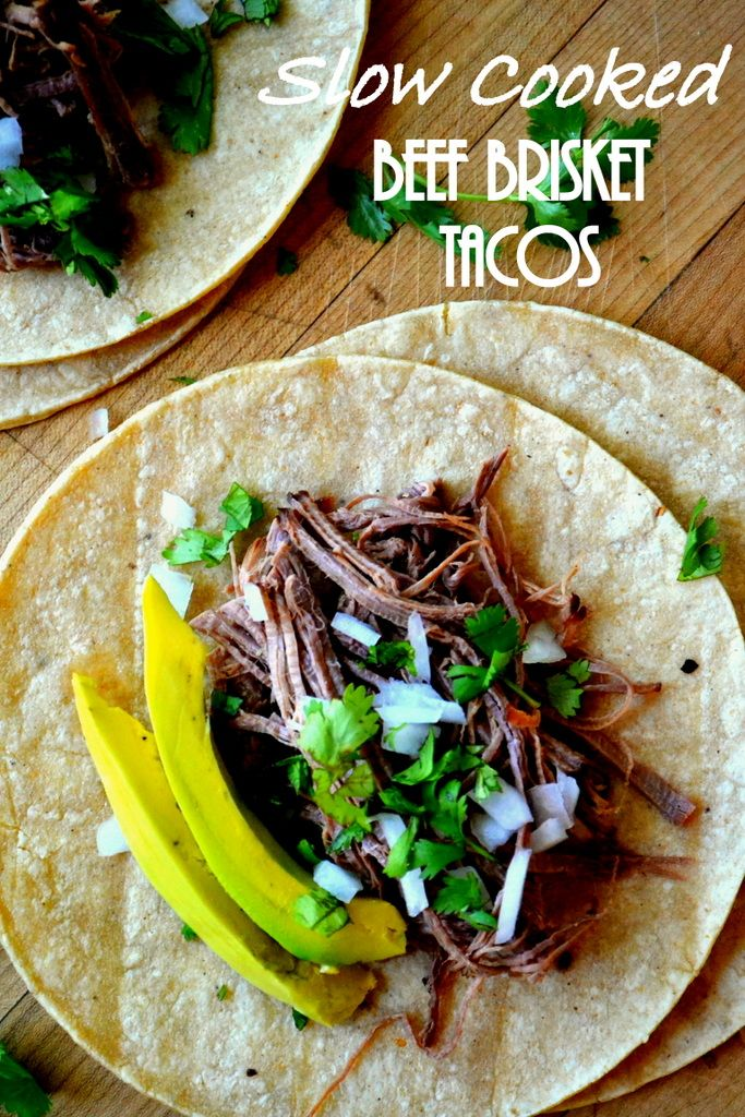 Slow Cooked Beef Brisket Tacos --- Delicious fork tender beef slow cooked in beer!