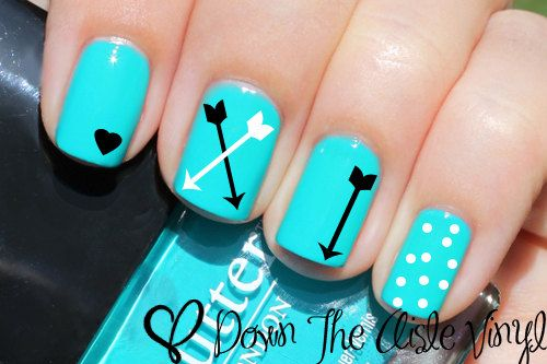 Arrow Nail Decals - Set of 50 on Etsy, $5.00 @beitrisk: