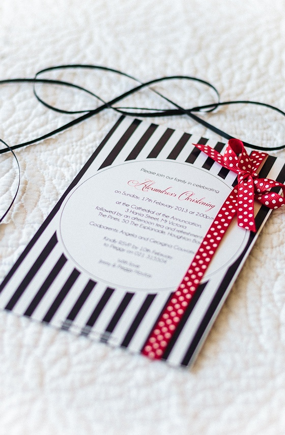 'Nautical Flair' christening invitation by  InkiMinki Boutique Stationery