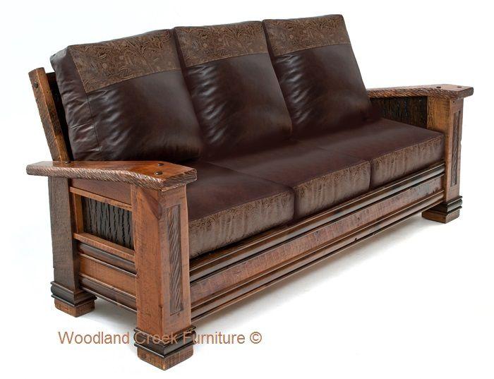 Cabin Sofa Ranch Couch Barn Wood Sofa Reclaimed Rustic Sofa Wooden Sofa Designs Wood Sofa