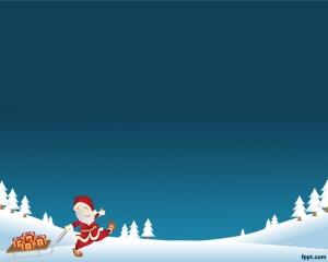 Plantilla con Papa Noel para PowerPoint es un fondo de Navidad para presentaciones de PowerPoint que puedes bajar gratis para PowerPoint como presentación navideña así como también para decoración de navidad