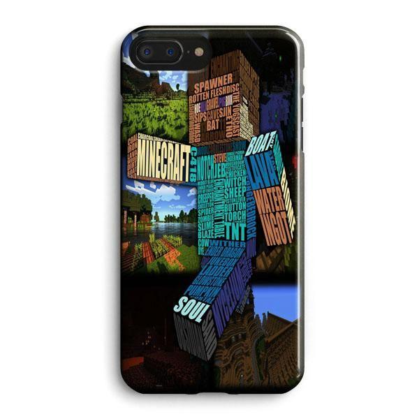 Minecraft Steve Typograpghy iPhone 8 Plus Case | Casescraft | Minecraft,  Galassia