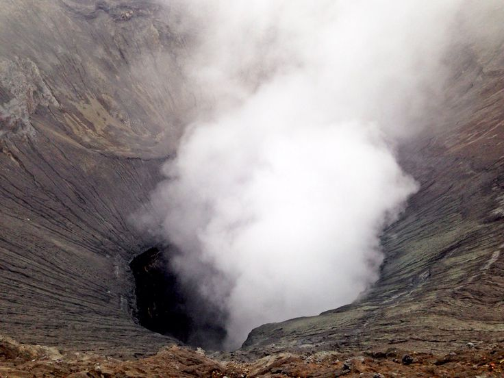 After climbing 235 steps, we'll see this awesome Kawah Bromo - Jul2014