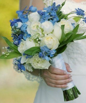 Blue Bridal Bouquet - Wedding in Blue