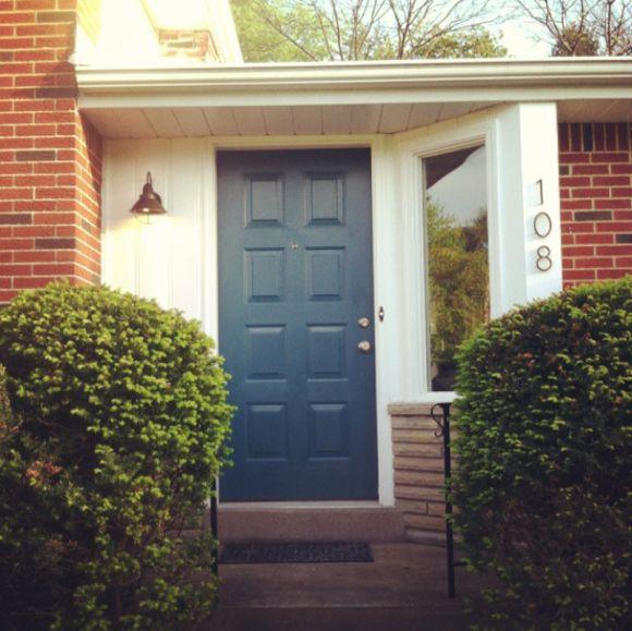 Teal Front Door Martha Stewart 39 S Plumage Via