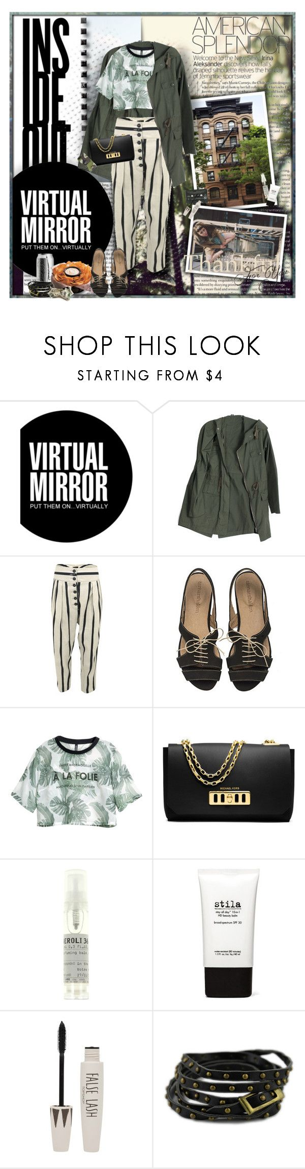 """タイトルなし #875"" by papee ❤ liked on Polyvore featuring Ray-Ban, Vivienne Westwood Anglomania, H&M, Michael Kors, Le Labo, Stila, Topshop, Chicnova Fashion and Jack Spade"