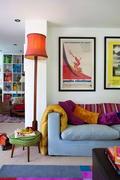 colourful home with retro touches