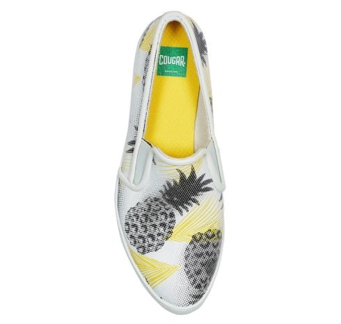 Calling all pineapple-loving sneaker heads: This slip-on running canvas shoe is 100% waterproof!
