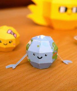 Kerajinan anak, miniatur tata surya (bumi), ilmu pengetahuan untuk SD