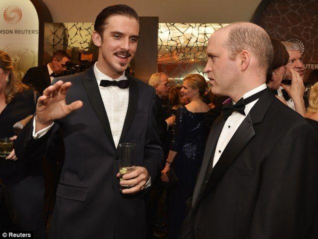 Unrecognisable: Having slimmed down 30lbs and grown a dark mustache and goatee, many Downton fans struggled to recognise Mr Stevens across the pond