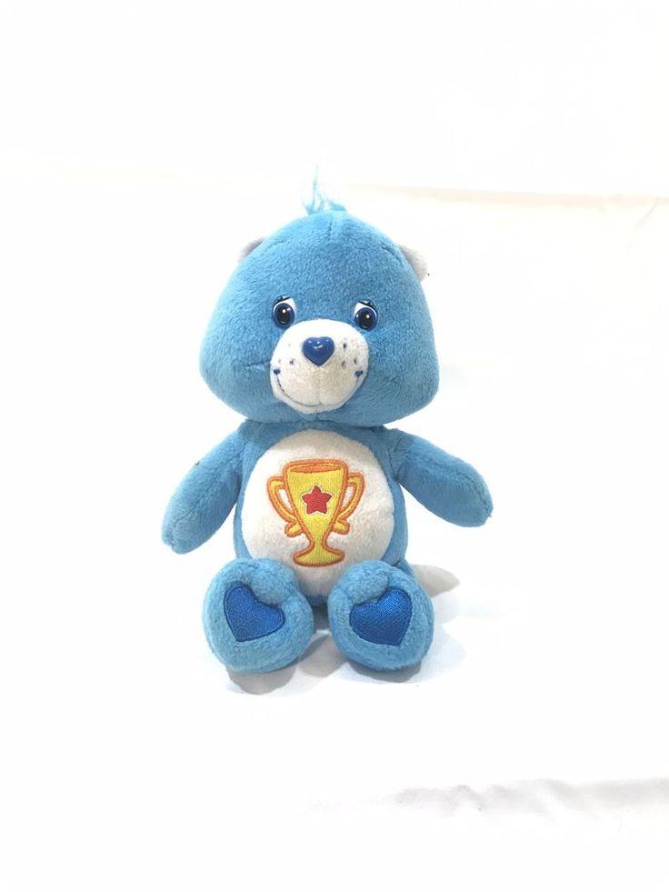 Care bear blue champion 8 trophy plush stuff animal