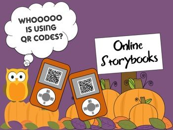 NEW FREEBIEThis product is great for differentiation in the classroom, centers and for students who finish their work early.I have a collection of online storybooks with their websites saved as QR codes on ipod clipart. Students will just scan their QR Code on the computer and go directly to the website.