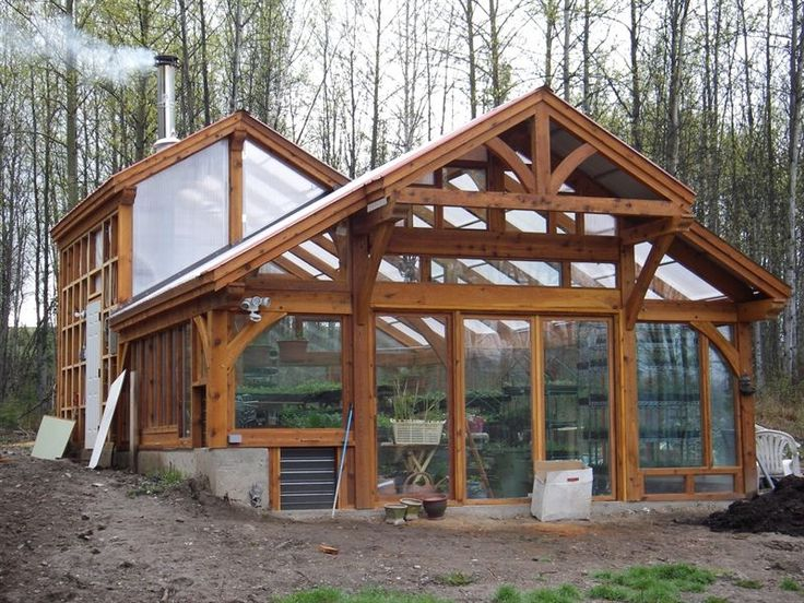 timber frame greenhouse - Google Search - Gardening Gazebo