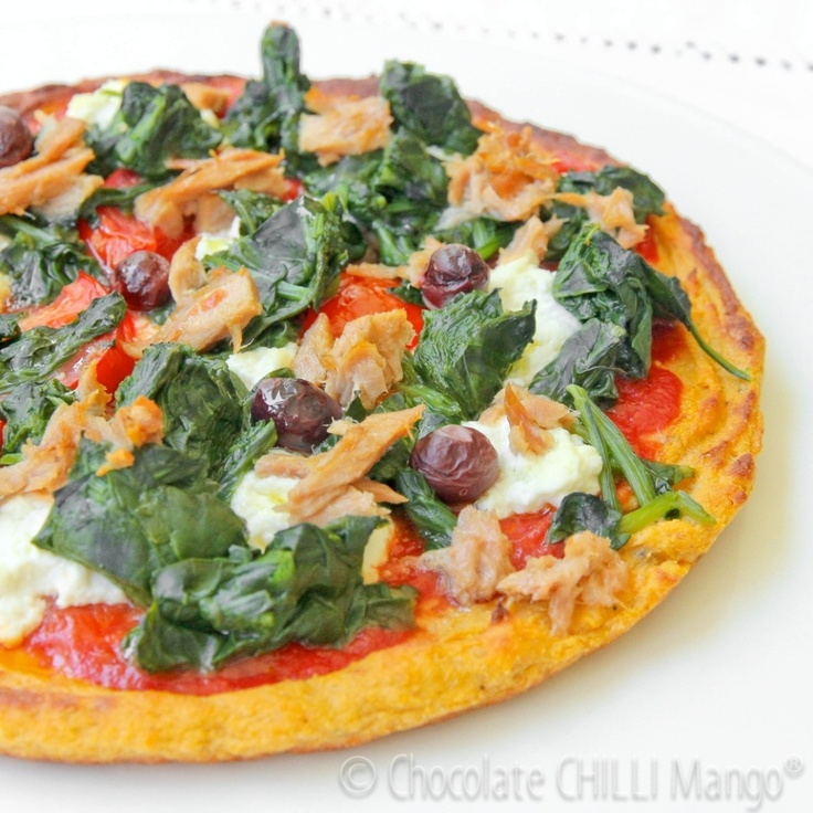 Sweet Potato Protein Pizza Base  High protein, low fat and wheat free alternative pizza base made with sweet potato and quinoa flour. Nut, dairy and gluten free.