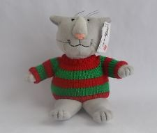 Edward Gorey - Плюшевый Свитер Кошки - Красный/Зеленый