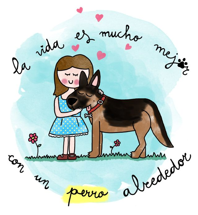 imprimible: la vida es mucho mejor con un perro alrededor | free printable: dog love