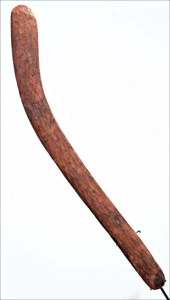 Large Australian Aboriginal Hooked Boomerang or Fighting Stick