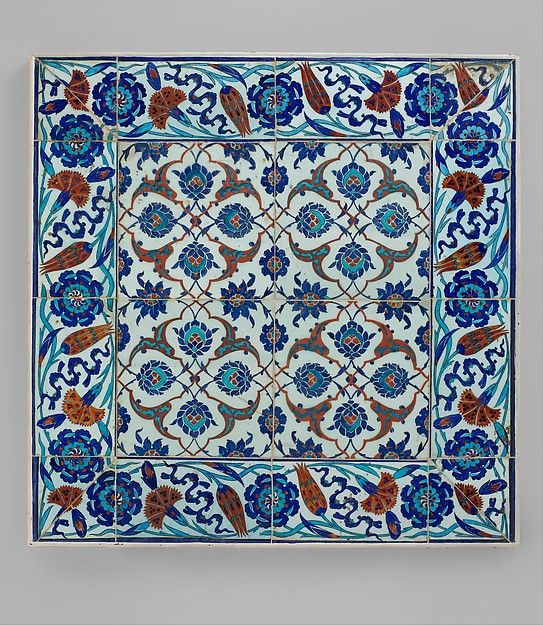Tile panel. Date: second half 16th century. Geography: Turkey, Iznik. Gift of J. Pierpont Morgan, 1917.
