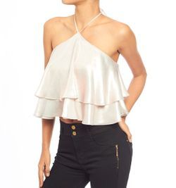 Blusa crop doble bolero Studio F