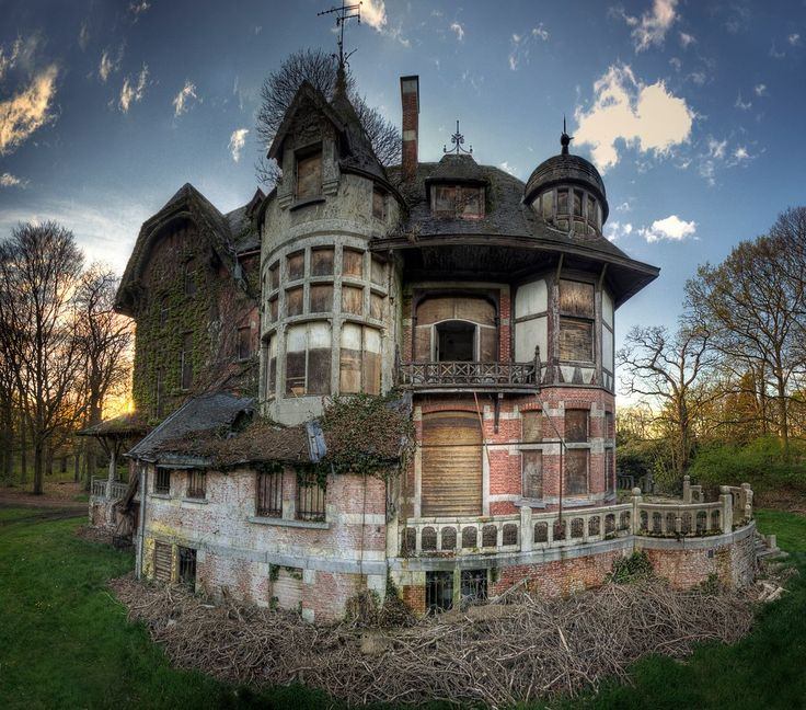 Abandoned Castle That Once Belonged To A Noble Family