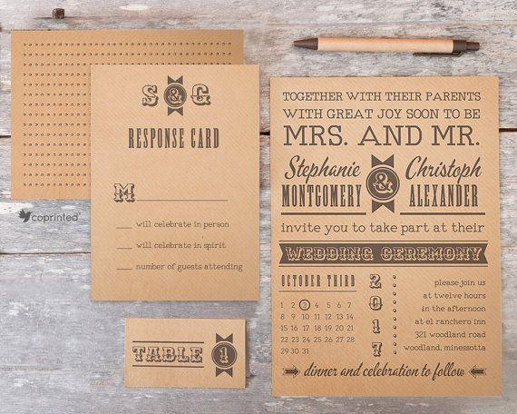 Western Style Wedding Invitation - Retro Poster Wedding Invitation - poster, retro, western, classical, paper, ribbons, wedding, invitation