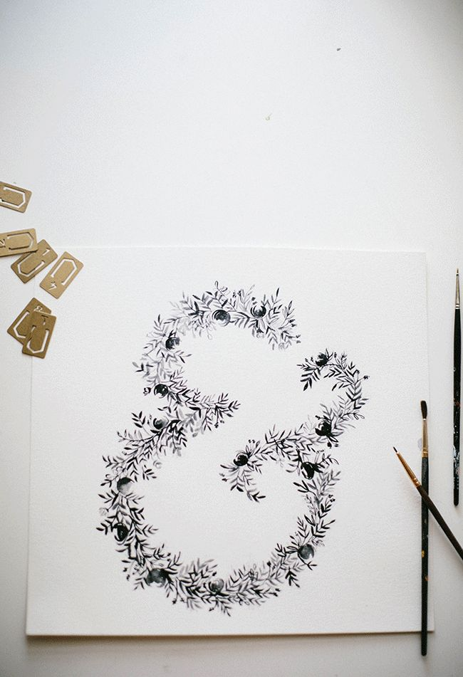 Floral letters in progress on the blog // shannon kirsten illustration