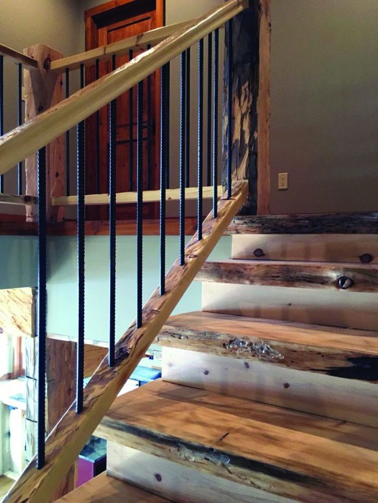 Rustic Mountian Stair Railings: 13 Outdoor Stair Railing Ideas (That You Can Build