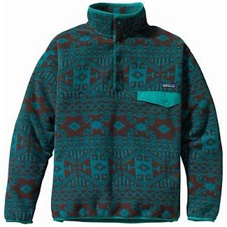 Patagonia fleece pullover in a print womens-large/mens-medium